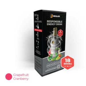 energetický nápoj ESCALATE 6-pack grapefruit a brusinka