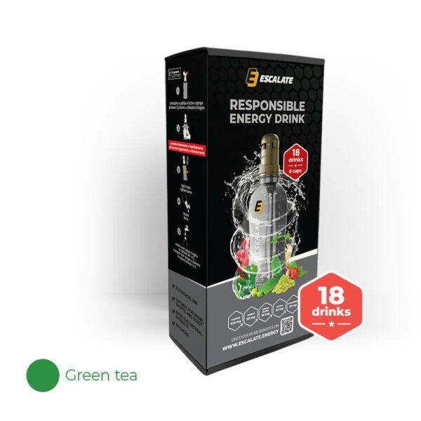 energetický nápoj ESCALATE 6-pack zelený čaj