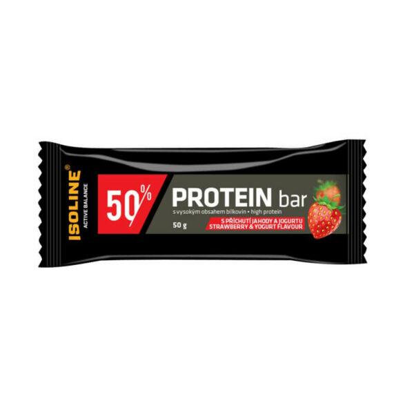 proteinová tyčinka v čokoládě s příchutí jahody a jogurtu