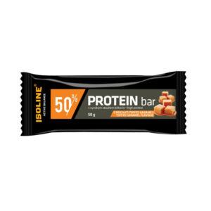proteinová tyčinka v čokoládě s příchutí toffee karamel